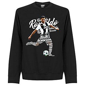Ronaldo Script Sweatshirt  - Black