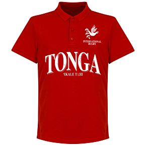 Tonga Rugby Polo Shirt - Red