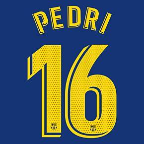 Pedri 16 (Match Pro Printing) - 20-21 Barcelona Home