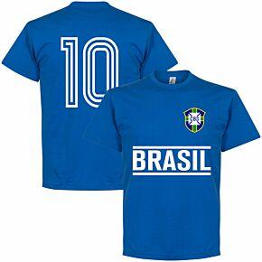 Brazil Team No. 10 Tee - Royal