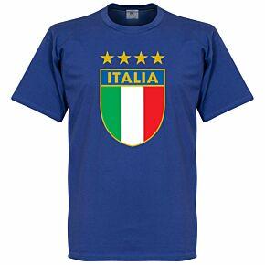 Italia Crest Tee - Blue