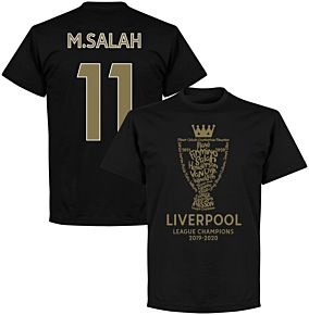 Liverpool 2020 League Champions Trophy M. Salah 11 T-shirt - Black