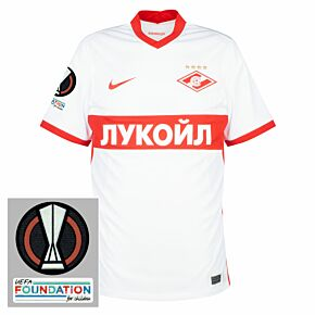 21-22 Spartak Moscow Home Shirt + Europa League Patches