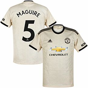 adidas Man Utd Away Maguire 5 Jersey 2019-2020 (Official Premier League Printing)