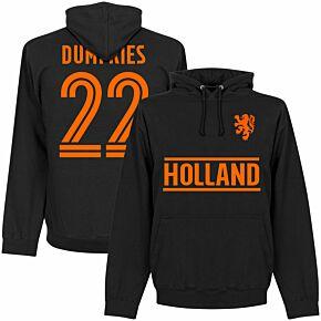 Holland Dumfries 22 Team KIDS Hoodie - Black