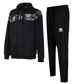 20-21 ADO Den Haag Full Zip Hooded Training Suit - Navy/Green