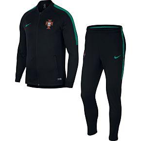 Portugal Squad Warm Up Suit 2018 / 2019 - Black