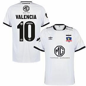 2020 Colo Colo Home Shirt + Valencia 10 (Fan Style Printing)