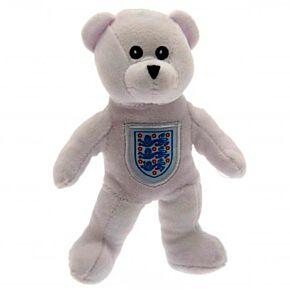 England Beanie Bear - White (8 in)