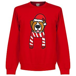 Dog Red / White Supporter Sweatshirt - Red