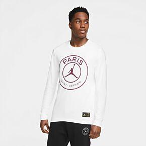 20-21 PSG x Jordan L/S T-shirt - White