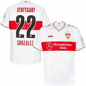 20-21 VfB Stuttgart Home Shirt + Gonzalez 22 (Official Printing)