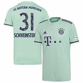 Bayern Munich Away Schweinsteiger 31 Jersey 2018-2019 (Danke Bastien Printing)