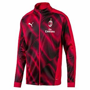 Puma AC Milan Stadium Jacket - Red/Black 2019-2020