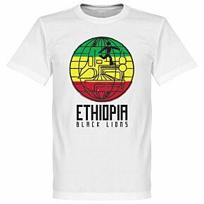 Ethiopia Black Lions Tee - White