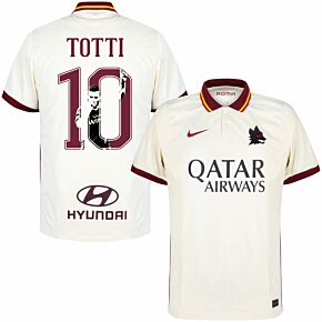 20-21 AS Roma Away Shirt + Totti 10 (Gallery Style)