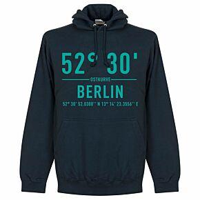 Hertha Berlin Home Coordinates Hoodie - Navy