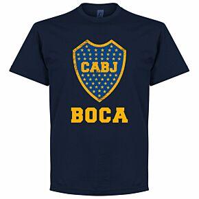 Boca CABJ Crest KIDS Tee - Navy