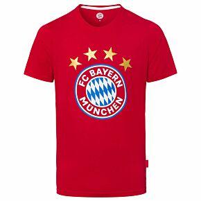 Bayern Munich Logo T-shirt - Red