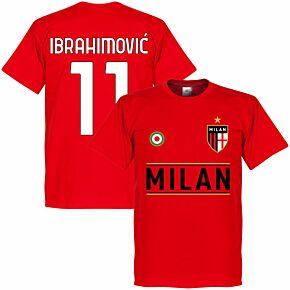 Milan Team Ibrahimović 11 KIDS T-shirt - Red