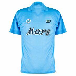 87-88 Napoli Ennerre Authentic Home Remake Shirt - Mars Sponsor