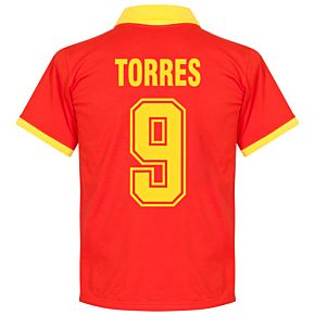 1970's Spain Home Retro Shirt + Torres 9 (Fan Style)