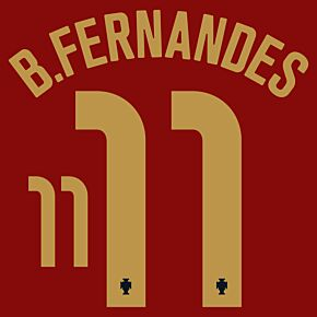 B.Fernandes 11 (Official Printing) - 20-21 Portugal Home