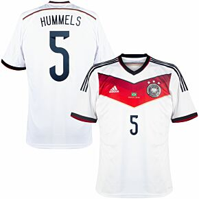 14-15 Germany Home Shirt + Hummels 5 (Official) + 2014