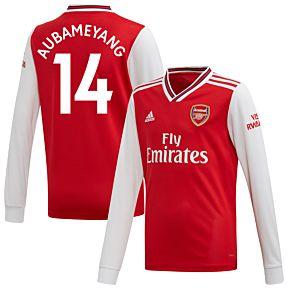 19-20 Arsenal KIDS Home L/S Shirt + Aubameyang 14 (Fan Style)