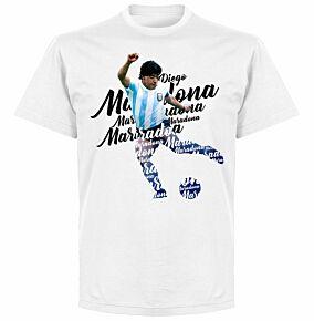 Maradona Script T-shirt - White