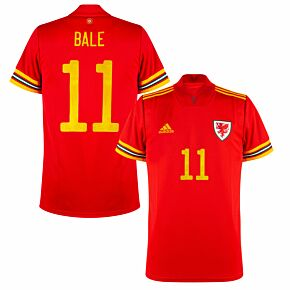 20-21 Wales Home Shirt + Bale 11 (Official Printing)