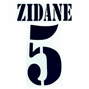 Zidane 5 - 02-03 Real Madrid Home Flex Name and Number Transfer