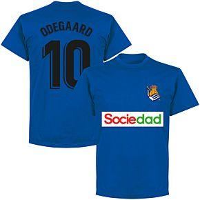 Sociedad Odegaard 10 Team T-shirt - Royal