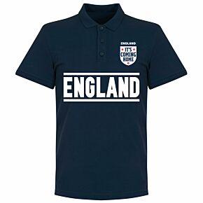 England Team Polo Polo Shirt - Navy