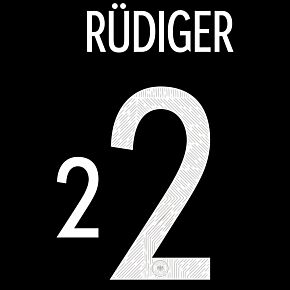 Rüdiger 2 (Official Printing) 20-21 Germany Away