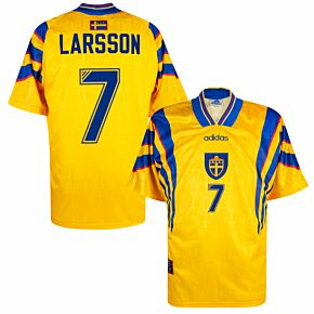 adidas Sweden 1996-1998 Home Larsson 7 Shirt - NEW Condition (w/tags) - Size XL