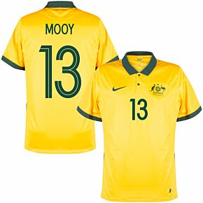 20-21 Australia Home Shirt + Mooy 13 (Fan Style Printing)