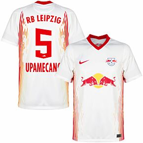 20-21 RB Leipzig Home Shirt + Upamecano 5 (Official Printing)