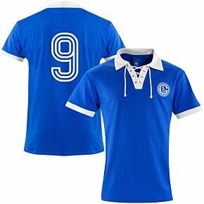 FC Schalke 04 1950's Retro Shirt + 9 (Retro Flock Printing)