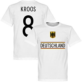 Germany Kroos 8 2020 Team T-Shirt - White