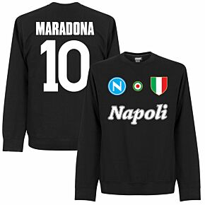 Napoli Maradona 10  Team Sweatshirt - Black