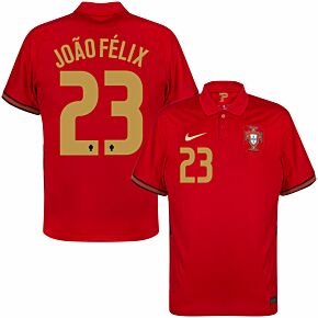 20-21 Portugal Home Shirt + João Félix 23 (Official Printing)