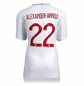 Trent Alexander-Arnold Back Signed England Home 18-19 Shirt