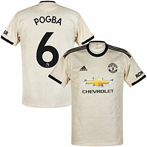 adidas Man Utd Away Pogba 6 Jersey 2019-2020 (Official Premier League Printing)
