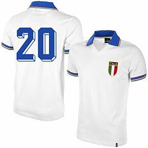 1982 Italy Away Shirt + No.20 (Retro Flock Printing)