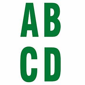 Keyline Style Green Flock Letters