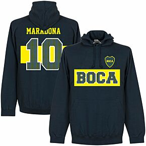 Boca Maradona 10 Stars Hoodie - Navy