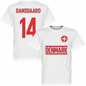 Denmark Damsgaard 14 Team T-shirt - White