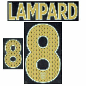 Lampard 8 - 06-08 England Away Boys Name and Number Transfer