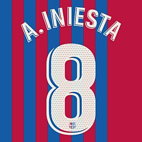 A.Iniesta 8 (Official Printing) - 21-22 Barcelona Home